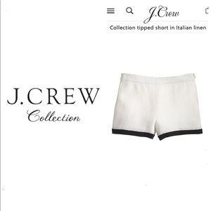J. Crew Collection Italian Linen Shorts